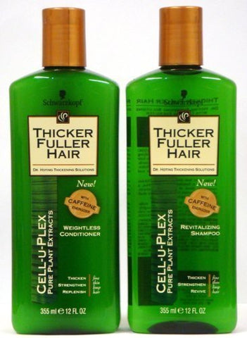 Thicker Fuller Hair Duo Set, Revitalizing Shampoo & Weightless Conditioner, 12 Oz Bottles
