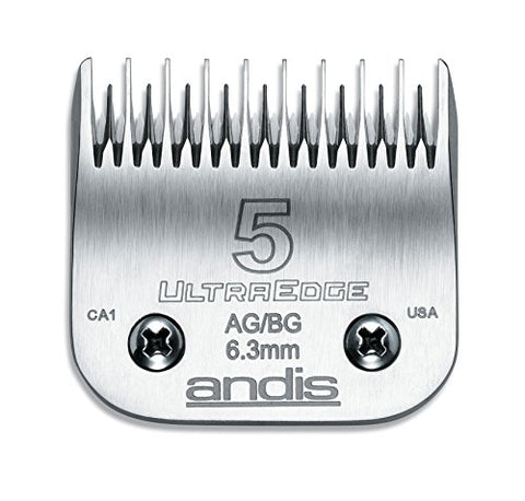 Andis Carbon Infused Steel UltraEdge Dog Clipper Blade, Size-5 Skip Tooth, 1/4-Inch Cut Length (6407