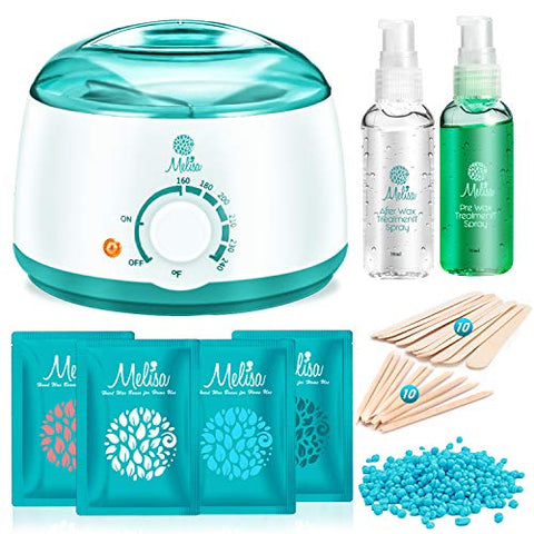 Yeelen Waxing Kit Wax Warmer Wax Beads Hot Wax Hair Removal With 4 Packs Hard Wax Beans And 20 Wax A