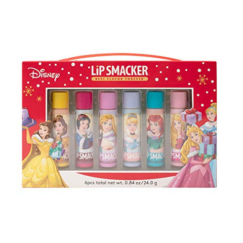 Lip Smacker Limited Edition Holiday 2019 Lip Balm, Vault Disney Princess, 6 Count