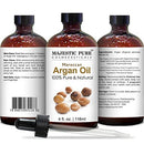 Image of Majestic Pure Moroccan Argan Oil For Hair, Face, Nails, Beard & Cuticles   For Men And Women   Pure