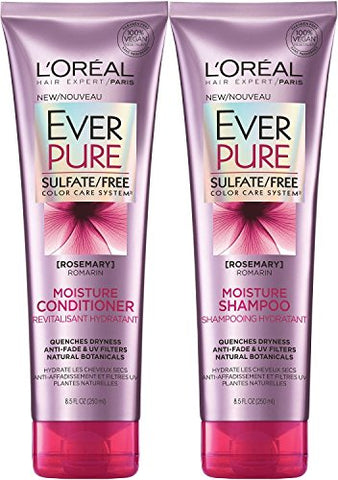 L'oreal Paris Ever Pure Rosemary Moisture Bundle: Shampoo & Conditioner, 8.5 Ounceâ Each