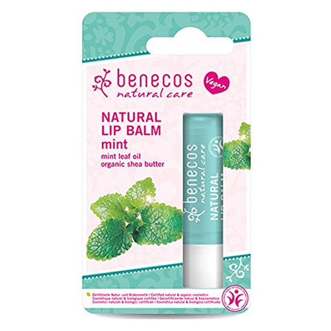 2 x Benecos Natural Lip Balm Mint 4,8g