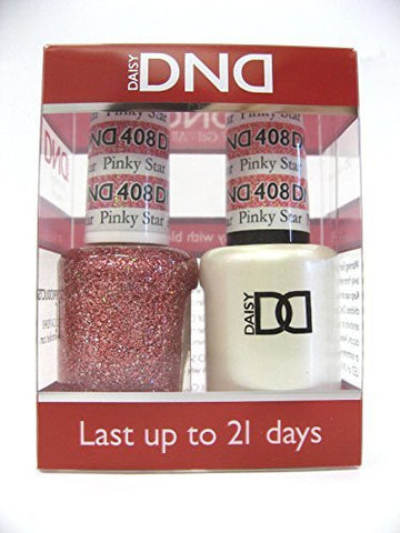 Dnd Duo Gel (Gel & Matching Polish ) Glitter Set 408 Pinky Star