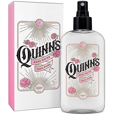Quinnã¢â€â™S Rose Water Spray. Facial Toner Mist With Pure Rosewater. Alcohol Free Moisturizer And S