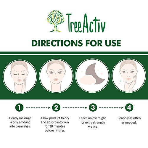Tree Activ Cystic Acne Spot Treatment, Extra Strength Fast Acting Formula For Clearing Severe Acne Fr