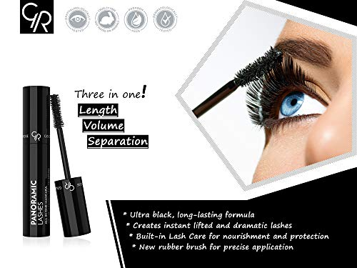 Golden Rose Panoramic Lashes All in One Black Mascara