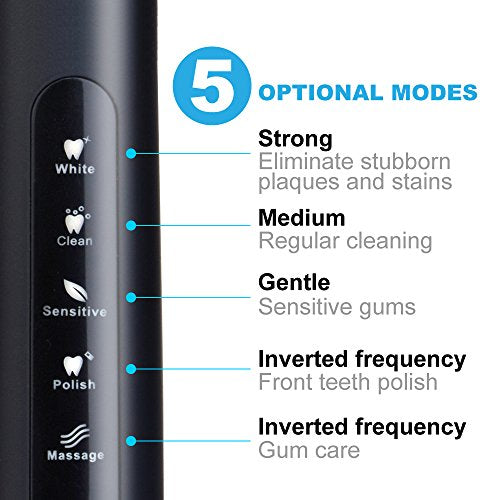 Electric Toothbrush Powerful Sonic Cleaning   Ada Accepted Toothbrush With Smart Timer 4 Hours Charg