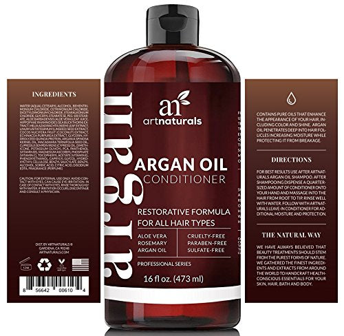 Art Naturals Moroccan Argan Oil Conditioner | Sulfate Free Reducing Curly, Dry, Color Fading & Damage