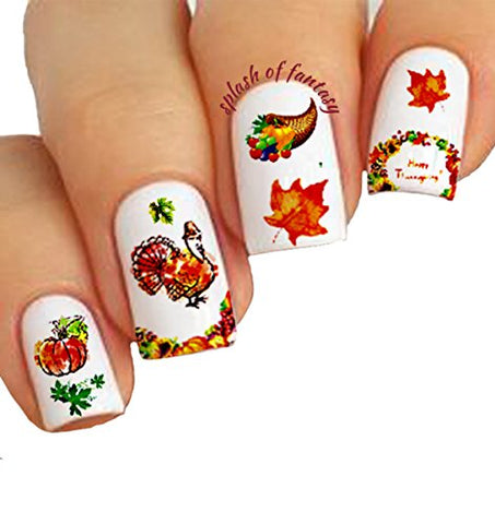 Nail Art 3 D Stickers â?¥ Thanksgiving Collection, 10 Pack /Ee V/