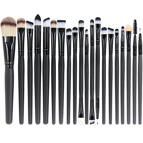 EmaxDesign 20 Pieces Makeup Brush Set Professional Face Eye Shadow Eyeliner Foundation Blush Lip Mak