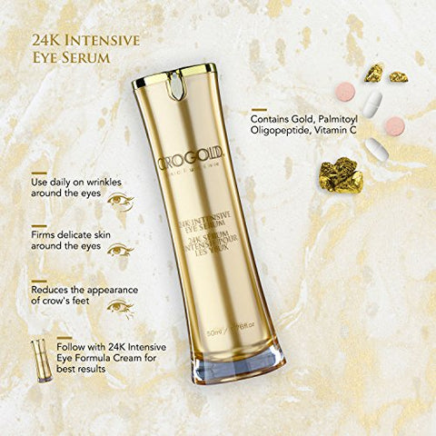 Orogold 24 K Intensive Eye Serum For Wrinkles, Dark Circles And Puffiness   Anti Aging Serum For Yout