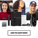 Image of AquaSonic Black Series Ultra Whitening Toothbrush - 8 DuPont Brush Heads & Travel Case Included - Ultra Sonic 40,000 VPM Motor & Wireless Charging - 4 Modes w Smart Timer - Modern Electric Toothbrush
