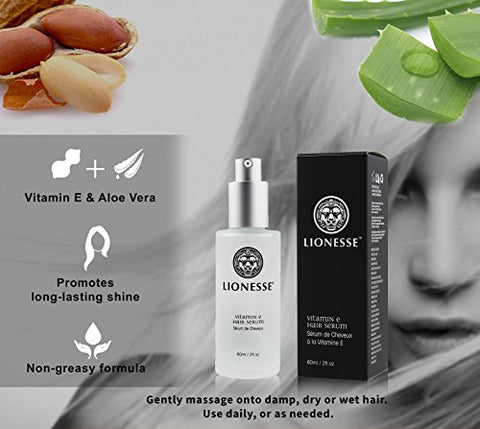 Lionesse Vitamin E Hair Serum   Hair Shine Serum For Lasting Shine   Aloe Vera Hair Repair Serum   H