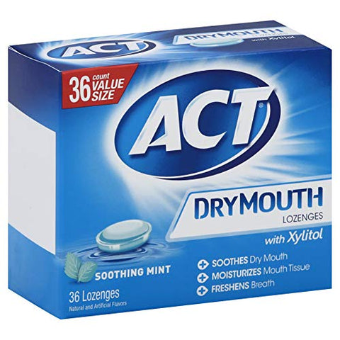 ACT 36 Count 36 Size Dry Mouth Mint Lozenges