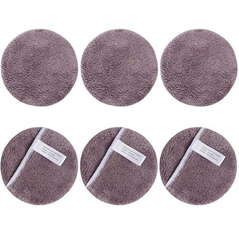 SUNLAND Reusable Makeup Remover Pads for Face,Eyes,Lips Microfiber Face Cleansing Gloves Washable Makeup Remover Cloth with Laundry Bag Rounds Pads