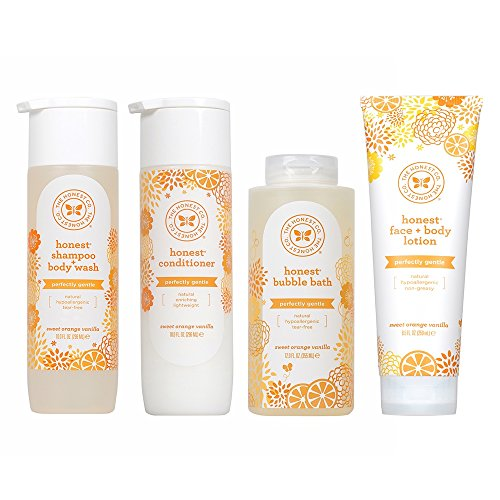 The Honest Company Perfectly Gentle Sweet Orange Vanilla Shampoo + Body Wash | Tear Free Baby Shampo