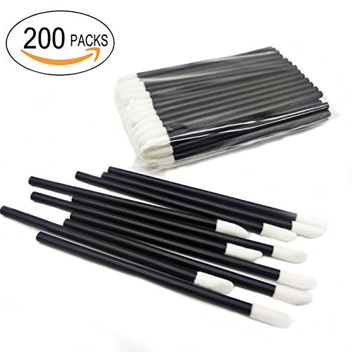 GoWorth 200Pcs/Set Disposable Lip Brushes Make Up Brush Lipstick Lip Gloss Wands Applicator Tool Mak