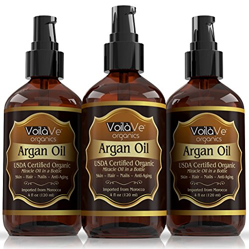Voila Ve Usda And Ecocert Pure Organic Moroccan Argan Oil For Skin, Nails & Hair Growth, Anti Aging F