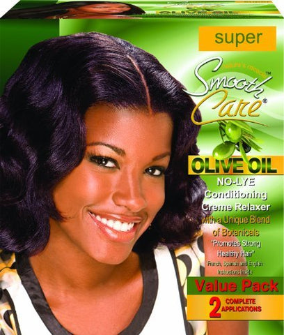 Smoothcare Olive Oil No-Lye Relaxer - Super Kit 2-Count