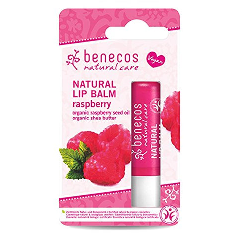 2 x Benecos Natural Lip Balm Raspberry 4,8g