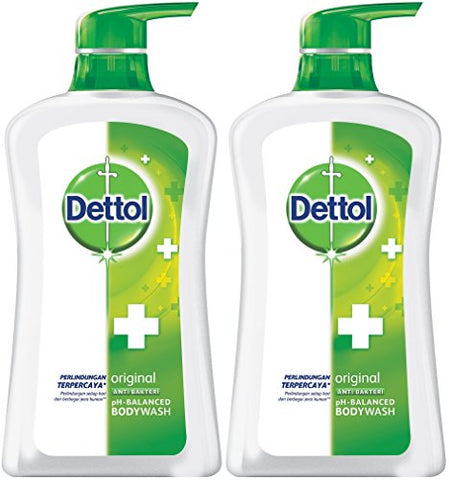 Dettol Anti Bacterial P H Balanced Body Wash, Original, 21.1 Oz/625 Ml (Pack Of 2)