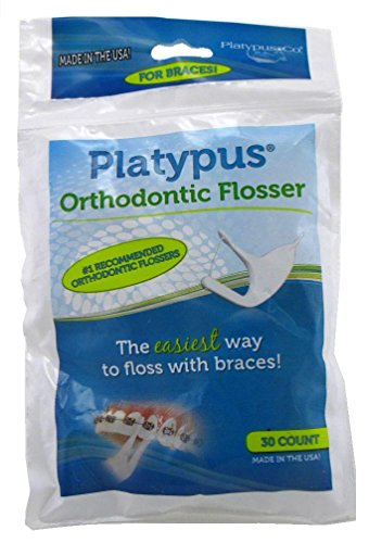 Platypus Ortho Flosser For Braces 30 Count (Pack Of 3)