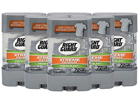 Right Guard Antiperspirant Deodorant Xtreme Gel Fresh Blast 3 Ounce (Pack of 6)