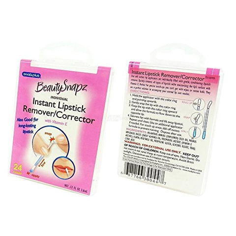 Swabplus Instant Lipstick Remover / corrector 24-Count Packages (Pack of 24)