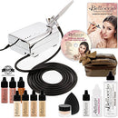 Image of Belloccio Professional Beauty Airbrush Cosmetic Makeup System with 4 Fair Shades of Foundation in 1/