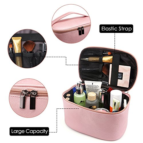 Cosmetic Bag,365park Travel Accessories Cosmetics Make Up Case Organizer Bag With Brush Holder Awesom