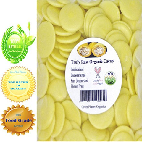 8oz Certified Organic Edible Cocoa Butter Wafers (Make your own White Chocolate!)