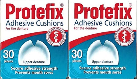 PROTEFIX Adhesive Cushions for Upper Denture - 2x30pcs