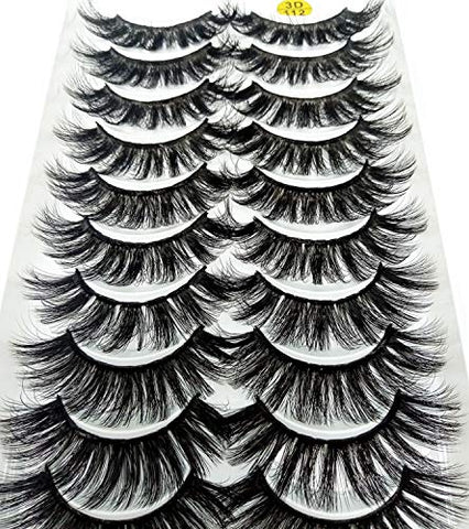 80 Pairs 3D Faux Mink Eyelashes Natural Thick Long False Eyelashes Dramatic Fake Lashes Makeup Extension Eyelashes