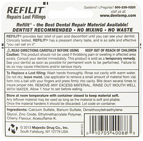 Refilit Lost Filling Repair, Cherry, (Pack of 6)