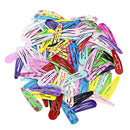 Image of 100pcs 2 Inch Hair Clips No Slip Metal Hair Clips Snap Barrettes for Girls Toddlers Kids Women Acces