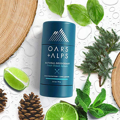 Oars + Alps Natural Deodorant , Allergen-Free Fragrance, Aluminum-Free, Alcohol-Free, Fights Odor. 2.6 oz