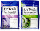 Image of Dr Teal's Epsom Salt Bath Soaking Solution, Eucalyptus And Lavender, 2 Count, 3lb Bags   6lbs Total