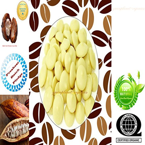 Certified Organic Edible Cocoa Butter Melts 8 oz (For Baking delicious Brownies or smooth Coffee!)