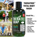 Image of Thera Tree Tea Tree Oil Soap With Neem Oil   12oz   Helps Skin Irritation, Body Odor, Helps Restore H