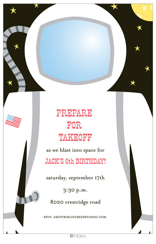 astronaut invitations - photo #2
