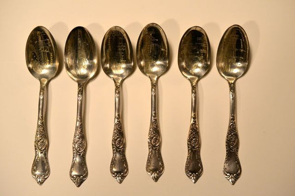 1893 Chicago World's Fair Souvenir Spoons-Set of 6