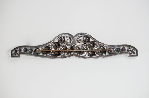 Marcasite Brooch Pin back