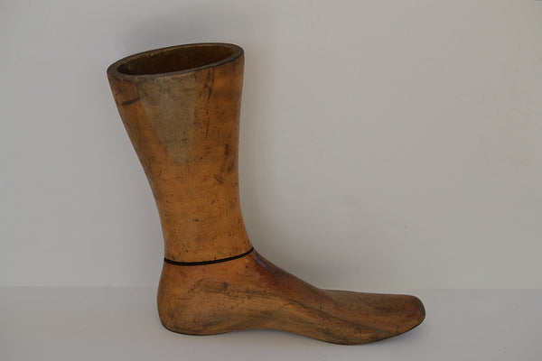 Earlier Wooden Store Display Foot/Lower Leg