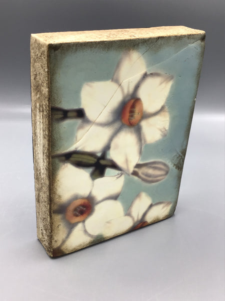 Decorative Floral Art Block Tile Sid Dickens Memory Block Floral Wall Plaques Art Tiles