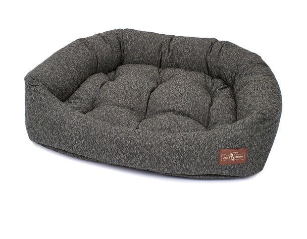 Loop Granite Crushed Velvet Napper Bed