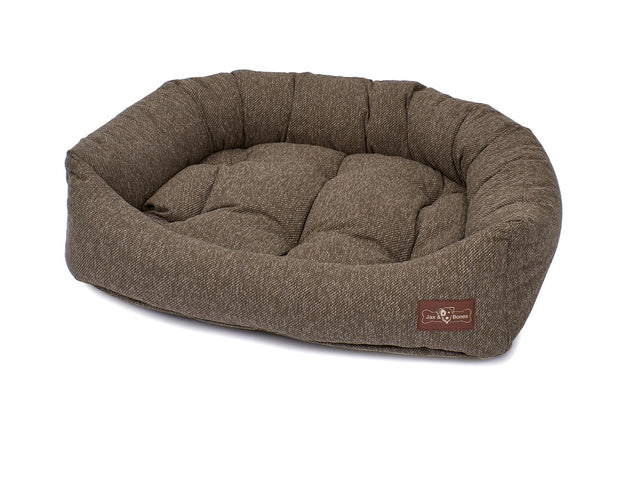Loop Stone Crushed Velvet Napper Bed