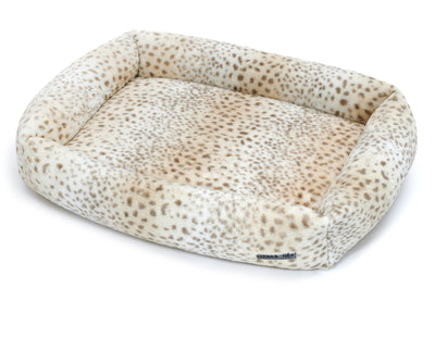 Cheetah Memory Foam Cuddler Bed