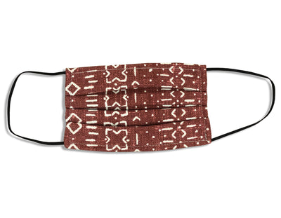 Unisex Face Mask - Mud Cloth Rust