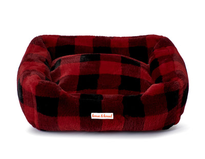 All Around Mink Relaxer Lounge Bed - Red & Black